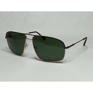 3681e846477f6 TOM FORD Men Sunglasses TF 467 JUSTIN gold metal frame green ...