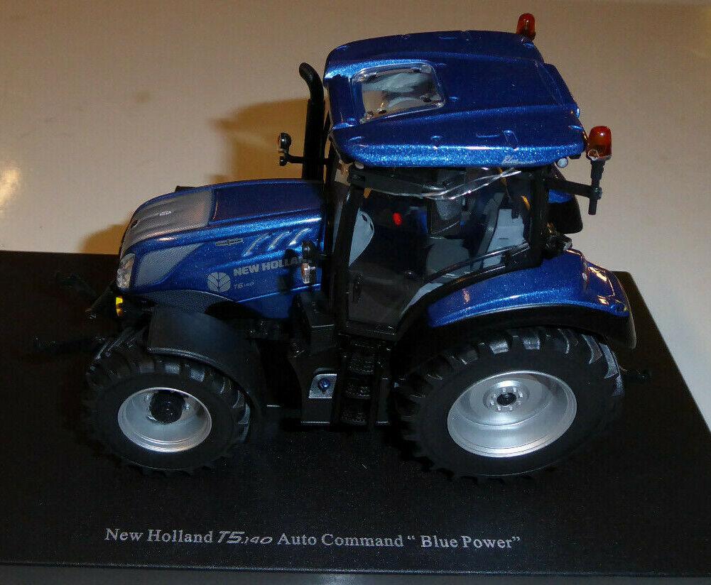 UNIVERSAL HOBBIES 1 32ND NEW HOLLAND T.5 140 AUTO COMMAND 'Blau POWER'