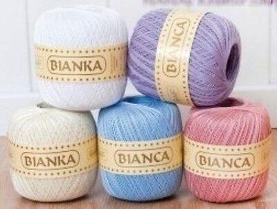 100 gr. HÄKELGARN Bianka Bianca von RELLANA Farben zur Auswahl!