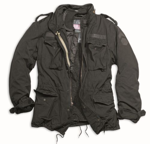 Surplus M65 Regiment Jacke Vintage Militär Stil Gesteppt Vlies-Futter