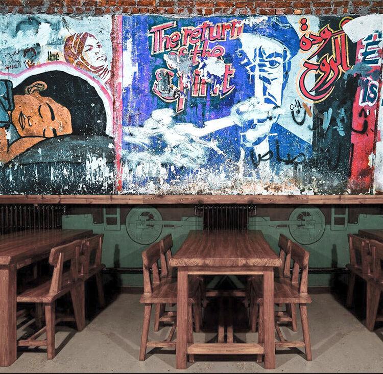 3D Graffiti 063 Parete Murale Foto Carta da parati immagine sfondo muro stampa