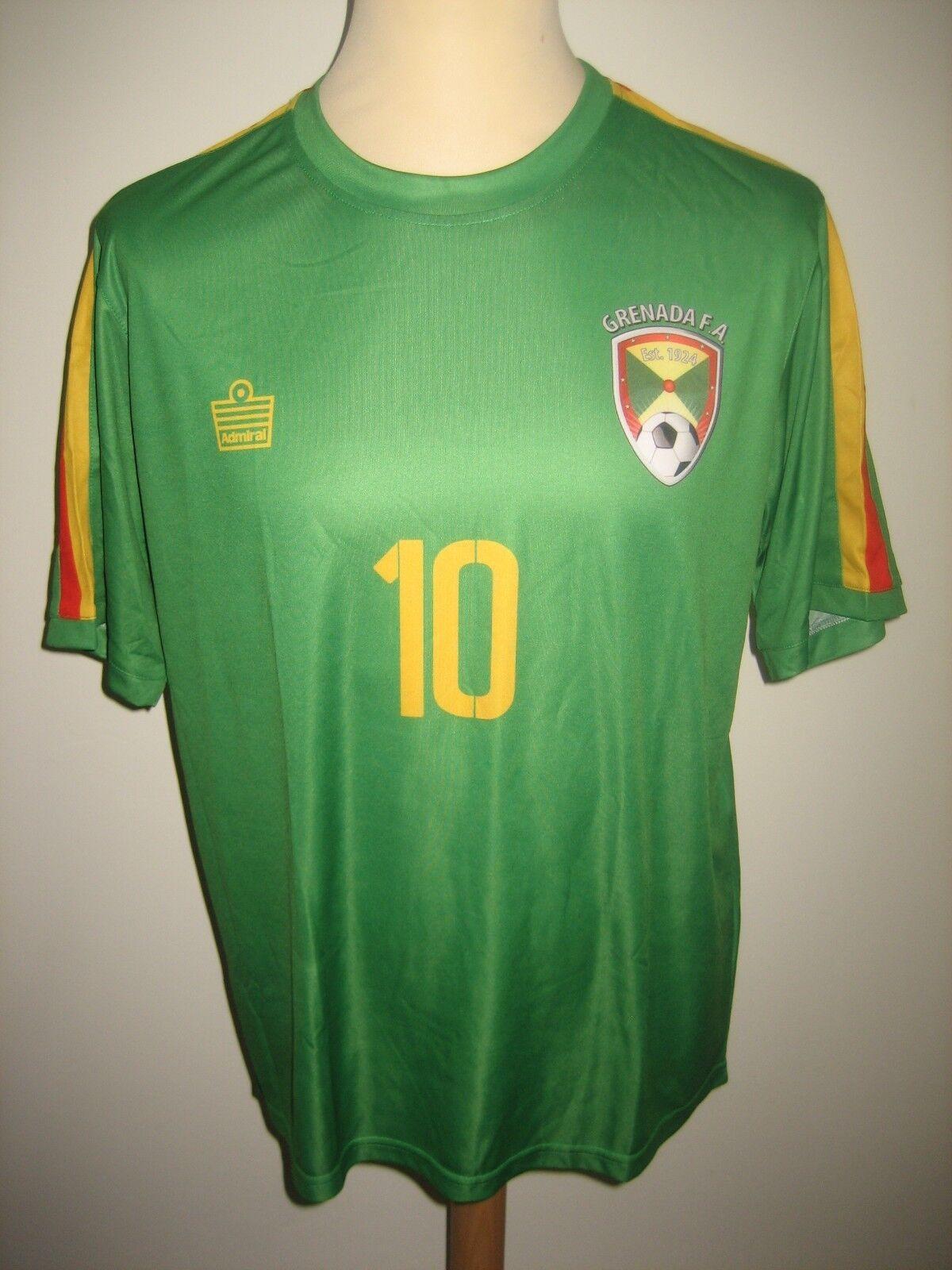 Grenada FA Number 10 footbtutti shirt soccer soccer soccer jersey camiseta maillot trikot Dimensione M 2b8
