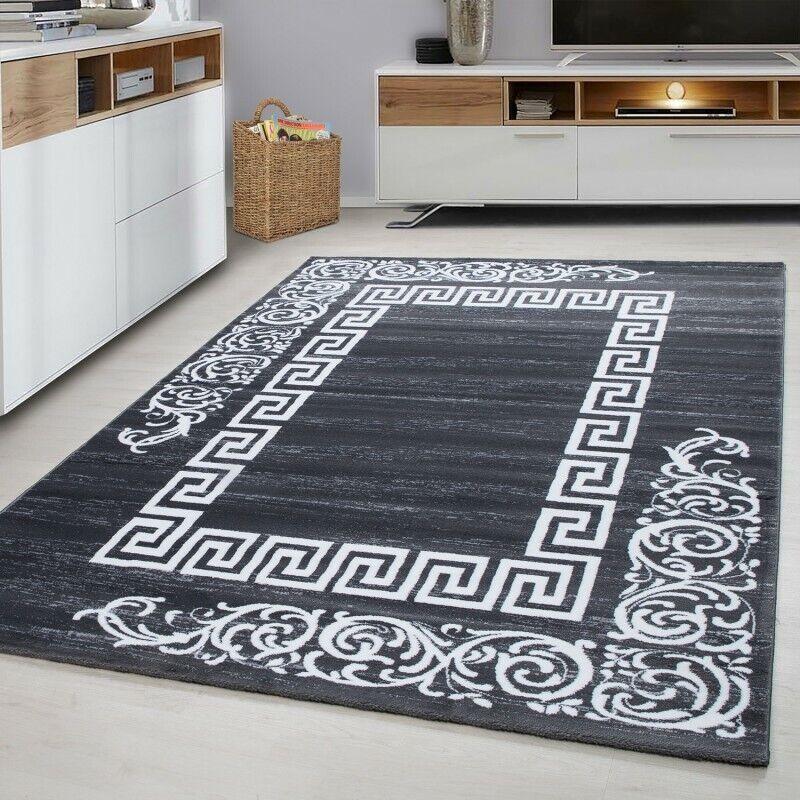 Tappeto grigio design moderno modello Bordo Tappeto Piccolo X Large camera da letto Corridore Stuoie
