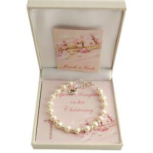 Madchen Taufe Armband Mit Perlen Geschenk Fur Tochter Patenkind Usw