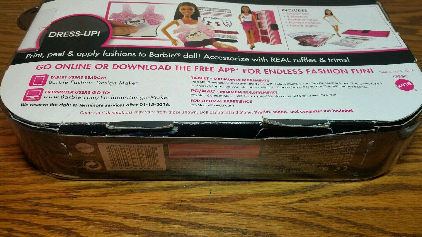Barbie Fashion Design Maker African American Doll Make Your Own Clothes Open Box For Sale Online