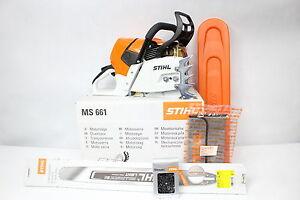 stihl ms 661 c m kettens ge s ge schnittl nge 63cm benzin motors ge 2x gratis ebay. Black Bedroom Furniture Sets. Home Design Ideas