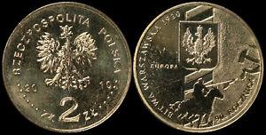 Pologne. 2 Zloty. 2010 (Pièce KM#Y.735 Neuf) Bataille de Varsovie