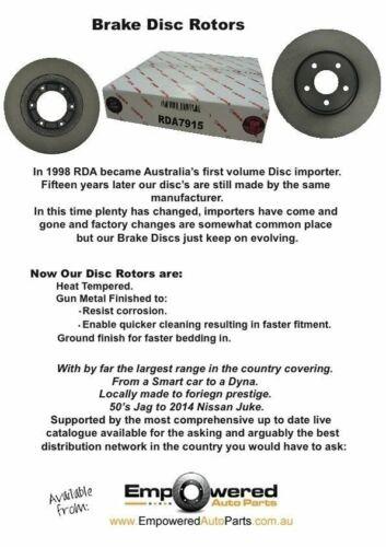 FRONT DISC BRAKE ROTORS PADS for Kia Rio UB 1.4L 79Kw *280mm* 9//2011-1//2017