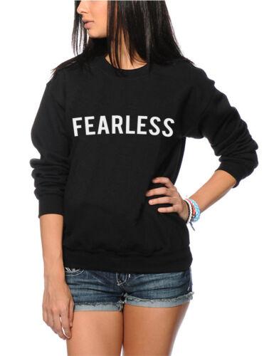 Fearless Motivational Spirit Inspiration Confidence  Youth /& Womens Sweatshirt