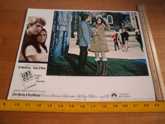 Ali MacGraw 1970 Love Story lobby card Ryan O'Neal ORIGINAL