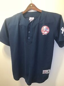 low priced 54739 1ff7e Details about Majestic Youth New York Yankees #2 Derek Jeter Jersey Size  10/12 Navy