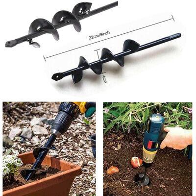 """9.8/"""" Planter Garden Auger Spiral Hole Digger Drill Bit Attachment Yard Butler"""