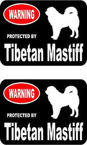 2 protected by Neapolitan Mastiff dog bumper home window vinyl decals stickers