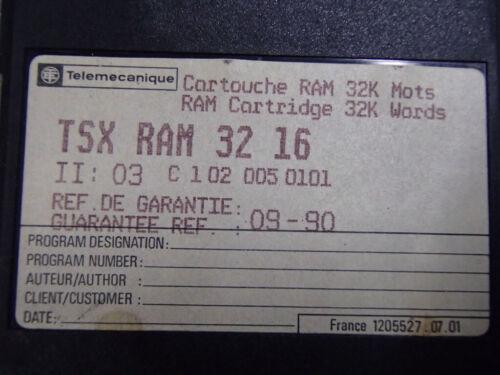 TSXRAM3216 Cartouche ram 32K mots USED TSXRAM 32 16 TELEMECANIQUE