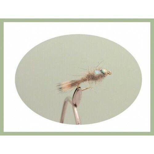 Gold Head Hares Ear Nymph Size 14//16 6 x GH Flash Head Hares Ear Trout Flies
