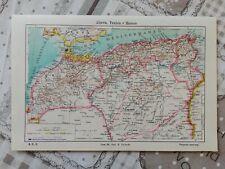 Cartina Stradale Marocco Gratis.Tavola Geografica Cartina Africa Di Nord Est 1930 Circa Ebay