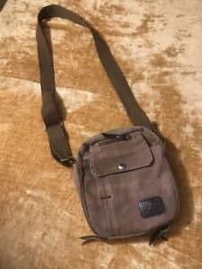 Lo-Oulilai-Khaki-Multiple-Buttons-Zippers-Pockets-Crossbody-Adjust-Travel-Bag