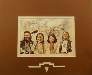 034-Original-Founding-Fathers-034-Brown-Matted-Print-10x8-Artist-David-Behrens