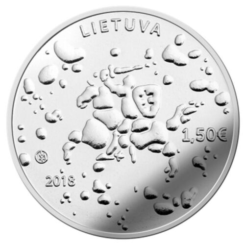 UNC 2018 LITHUANIA 1.50 Eur Commemorative Coin Rasos dedicated to Joninės