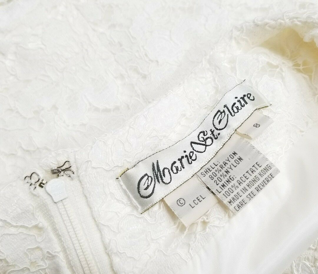 Vintage Marie St. Claire 8 Lace Ivory off white S… - image 4