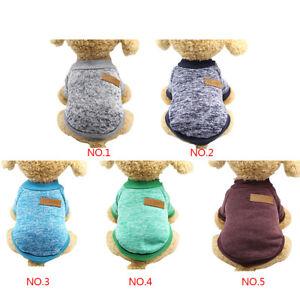 Dog-Pet-Puppy-Cat-Jumper-Knit-Sweater-Clothes-Knitwear-Coat-Warm-Costume-Apparel