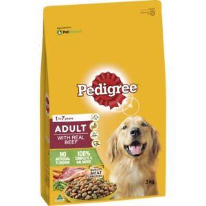 Pedigree Real Beef Adult Dry Dog Food 3kg