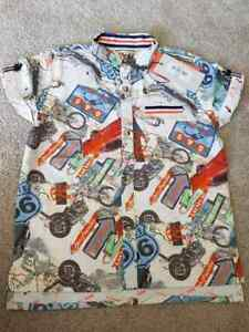 New-Boys-Designer-Angel-and-Rocket-Sold-Next-Short-Sleeved-Shirt-3-10-Years