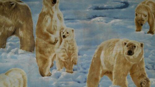 ICY ARCTIC POLAR BEAR CUBS WINTER SNOW ICE WHITE BATH TOWEL CUSTOM