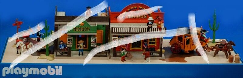 PLAYMOBIL espositore display WEST WESTERN anni 90 expositor NEW