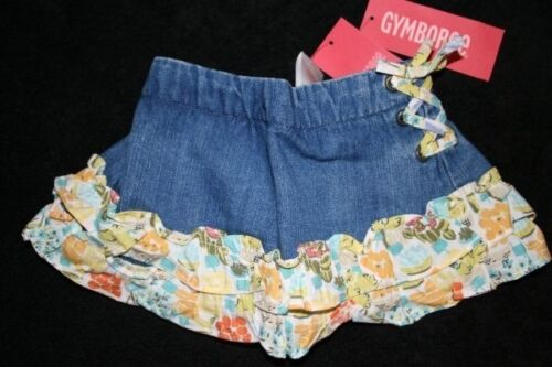 NWT Gymboree Girls Bonjour Provence 3-6 Months 6-12 2 2T Jean Shorts Bloomers