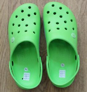 Women TWF Clogs Shoes Sandals Green Size 8