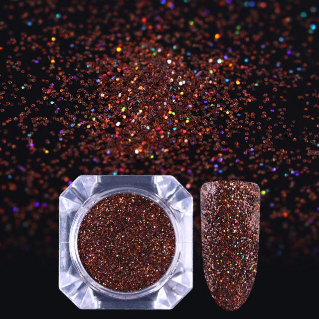 Born Pretty Holographic Glitter Powder Brown Ultrafine Round Holo