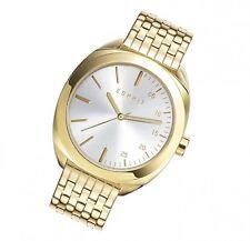 Esprit Uhr Eleanor gold silver XXL Damenarmbanduhr moderne Quarz Uhr ES108302002