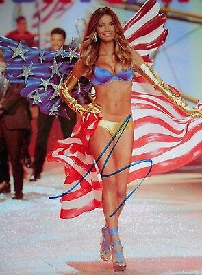 & S.i Model* Hot Photo Autographed 8 X 10 W/coa Colours Are Striking Lily Aldridge V.s