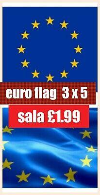 100/% Polyester With Eyelets European Union EU Flag 3 x 2 FT Stars Euro