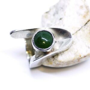 Heavy-Chunky-Natural-BC-British-Columbia-Jade-Ring-Sterling-Silver-Large-Wide