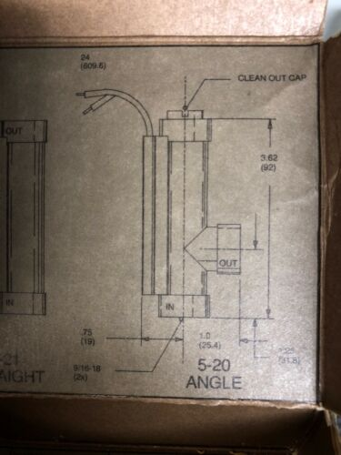 NOS 5-20 Angle Style Compac Series 5 Pervasive Flow Switch