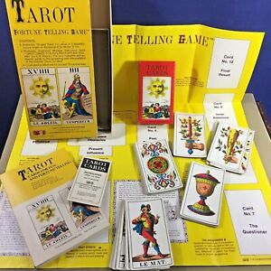 Vintage-Tarot-Deck-Deluxe-Set-1JJ-Switzerland-1970-w-book-amp-guide-sheet-Muller