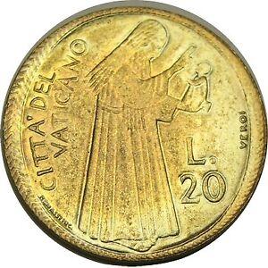 elf Vatican City 50 Lire 1975 Pope Paul VI   Olive Branch