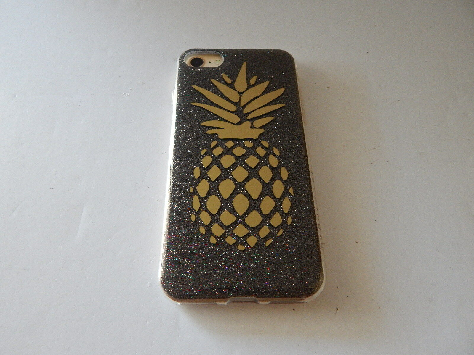 san francisco 677f6 0ea15 Dabney Lee Protective Glitter Case for iPhone 8/7 Pineapple/gold  Gl/clear/black