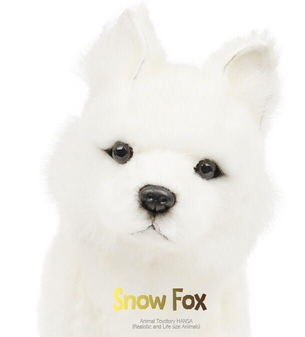 Miss Oh Peluche Peluche Juguete Juguete Juguete Suave Stofftier realista de nieve Fox Cachorro Sentado  tienda