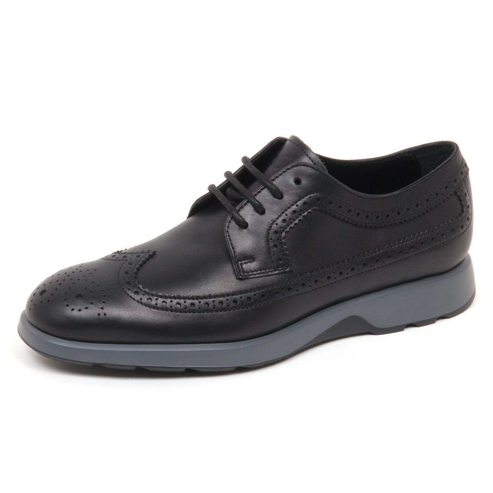 E0624 scarpa uomo nero HOGAN NEW DRESS X DERBY BUCATURE shoe man