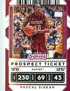 Pascal Siakam 2020 Contenders Draft Picks Prospect Ticket Card #17 New Mexico St