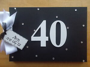 40th birthday guest book or scrapbook personalised any name quick