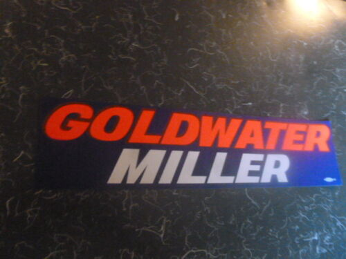 Barry Goldwater Bumper Sticker 1964 Miller Presidential Campaign Decal President