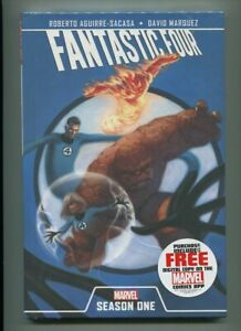 FANTASTIC-FOUR-SEASON-ONE-HARDCOVER-NM-9-6-MAGNIFICENT-COVER-GEM
