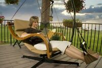 Deluxe Swing Hammock Chair Seat Hanging Lounger Footrest Patio Outdoor Porch