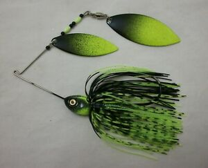 ELITE SPINNERBAIT 1/2oz COLOR: CHARTREUSE SHAD with CHARTREUSE / BLACK BLADES