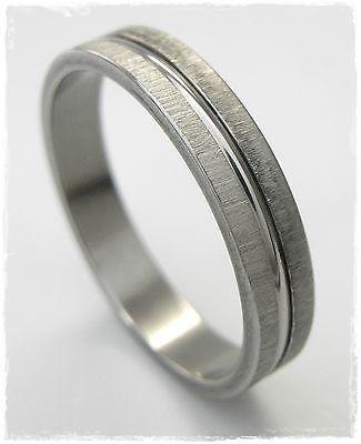 Sporting Neu 20mm/63 Edelstahlring Ring Edelstahl 4mm Breit Unisex In Silber