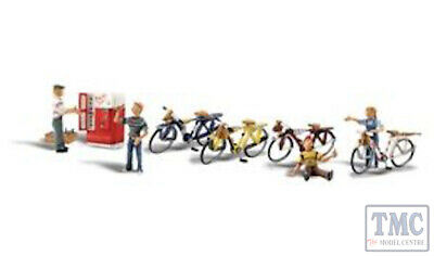 A2752 Woodland Scenics Painted Figures O Bicycle Buddies Servizio Durevole